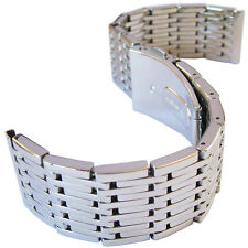 22mm Hadley-Roma MB9276 Rice Grain Stainless Steel Straight Watch Band Bracelet