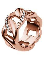 Emporio ARMANI Egs1990221 Rose Gold Tone Sparkles Stone Ladies Ring Size.6/7/8/9 8
