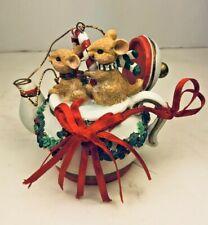 The San Francisco Music Company Mice Ornament Christmas Tree Holiday Rat