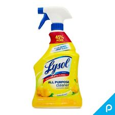 Lysol All Purpose Cleaner Spray, Lemon Breeze 32 oz (Pack of 4)