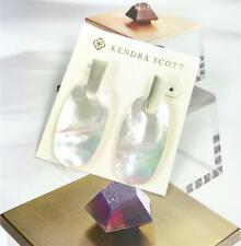 Pearl Gold tone Drop Earrings New Kendra Scott Aragon Ivory