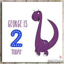 Personalised Handmade 1st 2nd 3rd 4th Dinosaur Cute Boy Boys Birthday Card