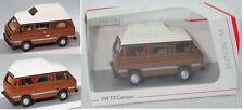 Schuco 452018200 VW T3 Camper Joker (WESTFALIA-Einrichtung), weiß/braun, 1:64