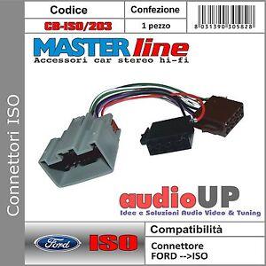 CONNETTORE AUTORADIO ISO COMPATIBILE PER FORD FIESTA DAL 2009 IN POI -MASTERLINE