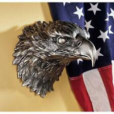 American Bald Eagle Large National Bird of Prey Statue Sculpture Wall Art Decor