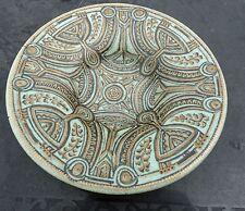 Antique Leon Senf New Delft Green Gold Bowl Koninklijke Porceleyne Fles  - Rare
