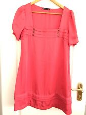 Coral Colour Dress By Atmosphere - Size UK 12