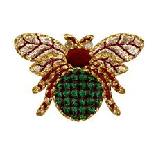 Id 0738 Shiny Flying Beetle Patch Scarab Symbol Embroidered Iron On Applique
