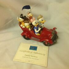 WDCC Disney Donald Duck Daisy FAMILY VACATION Statue Figurines-MIB/COA