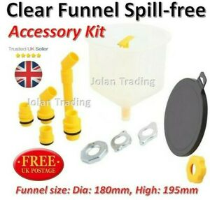 Funnel Clear Lid Spill-free Accessory Kit Coolant Car Caps Adaptors Cooling 5225