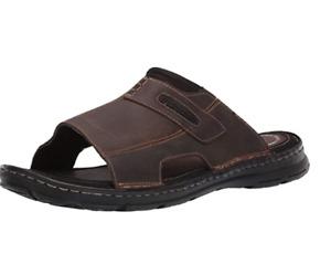 Rockport Men's Darwyn Slide 2 Sandal - Size 14M / BROWN