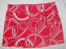 JR Womens Skirt XHILIRATION Stretch RED WHITE DESIGN 11 Mini