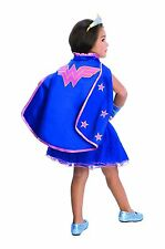 Child DC Comic Book Superhero Wonder Woman Stars Dress Up Halloween Costume Cape