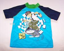 Ben 10 Boys Blue / Navy Blue Printed Rash Vest Size 3 New