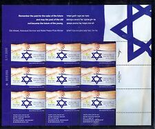 ISRAEL 2010 HOLOCAUST DAY 9 STAMP SHEET MNH