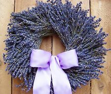Fall Wreath Lavender Wreath Wedding Wreath DRIED LAVENDER DOOR WREATH DECOR
