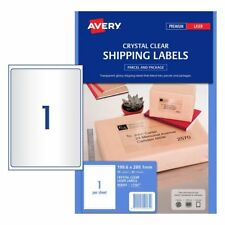 CLEAR Avery 959065 Laser Parcel Labels L7567 1 per Sheet 25 Sheets 1 UP