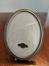 Vintage 24 Karat Gold Plated Oval Footed Picture Photo Frame 4 1/2 x 3 1/2