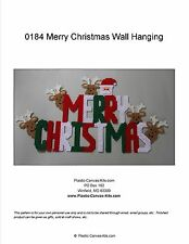 Merry Christmas Wall Hanging-Plastic Canvas Pattern or Kit