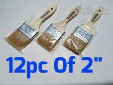 "12 pc 2"" Chip Brush Brushes  Paint Touchups 100% Pure Bristle"