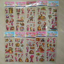 6 MASHA AND THE BEAR STICKER PARTY LOOT LOLLY BAG FILLER FAVOR GIFT SCRAPBOOKING