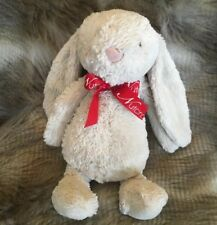 Jellycat Bashful Bunny Cream Beige Nutcracker Plush Stuffed Animal 11""