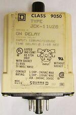 SQUARE D JCK 11V20 Time Delay Relay Timer .1-10 Second 120V
