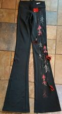 women's Jr's boutique Roxanne Valerie hand crafted flare pants xs tall