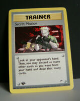 1st Edition Secret mission  #118/132 Uncommon Gym Heroes Pokemon Card