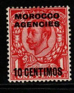 MOROCCO AGENCIES SG127 1912 10c on 1d SCARLET MTD MINT