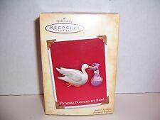 "2004 Hallmark Spanish Keepsake Ornament ""Primera Navidad De Bebe"" Stork NIB"
