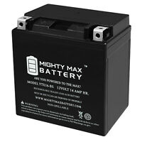 Mighty Max YTX16-BS 12V 14Ah Battery Replacement for Suzuki 33611-38B30