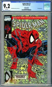 Spider-Man #1 CGC 9.2 (1990) TODD MCFARLANE~PLATINUM EDITION~KEY ISSUE!L@@K!