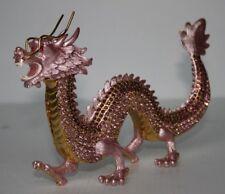 Drachen Figur China Asien Dragon Strass Metall Drache Tierkreiszeichen Horoskop