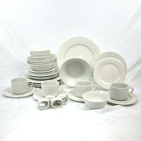 32 PIECE SET FARBERWARE TRELLIS DINNERWARE (4) 8 PC PLACE SETTINGS FREE SHIPPING