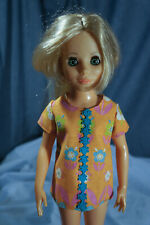 1960s Ideal Crissy Family Friends Doll Outfit Orange Floral Shirt Swim Top