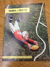 1960 Wagner vs Trenton Vintage Football Program L8343