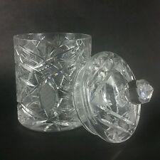 Cut Crystal Glass Pinwheel Cookie Jar Canister