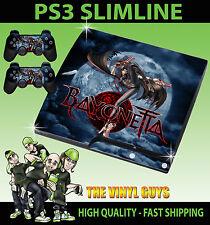 PLAYSTATION PS3 SLIM STICKER BAYONETTA LATEX WITCH SKIN & 2 PAD SKIN