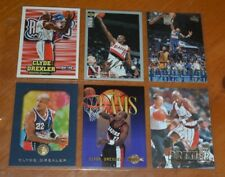 """BEAUTIFUL CLYDE """"THE GLIDE"""" DREXLER LOT COLLECTION ROCKETS / TRAIL BLAZERS"""