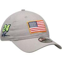 William Byron New Era USA Flag Salutes 9TWENTY Adjustable Hat - Gray