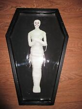 """NEW- Wood & Acrylic- Large Size- Halloween """"Mummy"""" Serving Tray, Party, Spooky"""