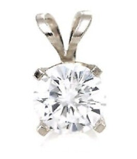 1.25ct Genuine VS Lab Diamond Solid 14K 14KT White Gold Pendant FREE SHIPPING