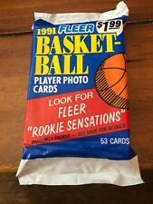 New listing 1991 Fleer Basketball Player Photo Cards 53ct. 1 Sealed Pack