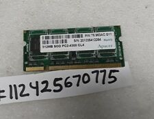 APACER 512MB DDR2  PC2  DDR2 PC2-4300 4300  CL4  200PIN SODIMM INTEL 1RX8 64X8