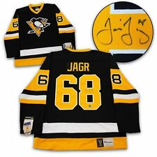 dc93e23c3 Jaromir Jagr Pittsburgh Penguins Autographed Fanatics® Vintage Hockey Jersey