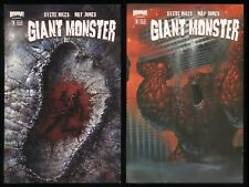 Giant Monster Comic Set 1-2 Lot Nat Jones art Kaiju Godzilla Gamera Pacific Rim