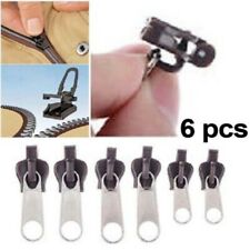 6Pcs Replacement Fix Zipper Slider Zip Heads Instant Repair Kit Easy Pull Kit