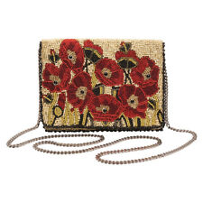 Women's Mary Frances Poppies Beaded Handbag - Red Floral Purse Pocketbook