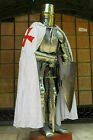 Medieval with Sword Knight Suit of Armor Templar Combat Full Body Armor